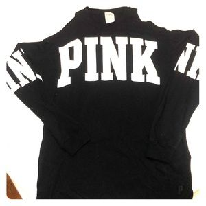 3/4 sleeve black lounge shirt